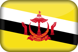 Flag of Brunei - 3D