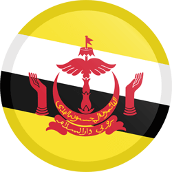 Flag of Brunei - Button Round