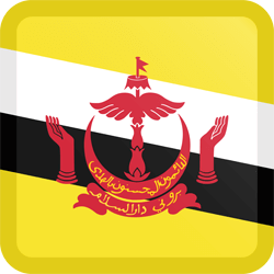 Flag of Brunei - Button Square