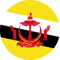 Flag of Brunei - Round