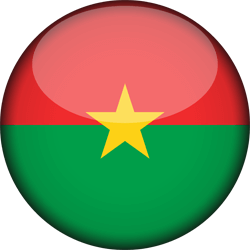 Flag of Burkina Faso - 3D Round