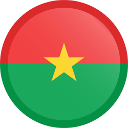 Flag of Burkina Faso - Button Round