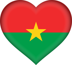 Flag of Burkina Faso - Heart 3D