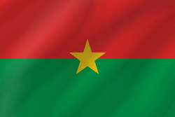 Flag of Burkina Faso - Wave