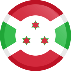 Flag of Burundi - Button Round