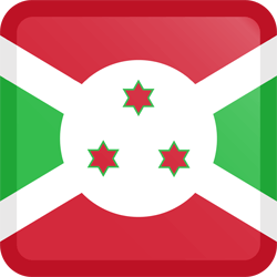 Flag of Burundi - Button Square