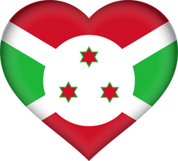 Flag of Burundi - Heart 3D
