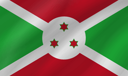 Flag of Burundi - Wave