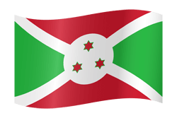 Flag of Burundi - Waving