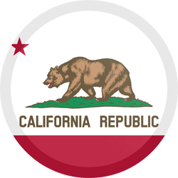 Flag of California - Button Round