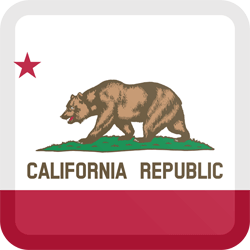 Flag of California - Button Square