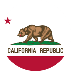 Flag of California - Round