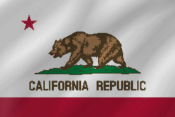 Drapeau de la Californie - Vague