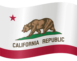 Flag of California - Waving