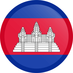 Flag of Cambodia - Button Round