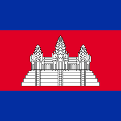 Flag of Cambodia - Square