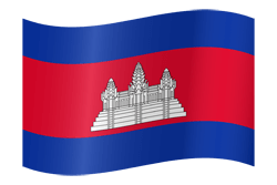 Flag of Cambodia - Waving