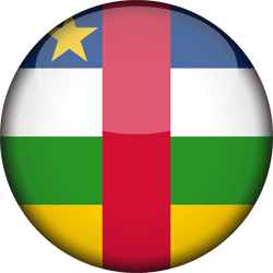 Flag of Central-African Republic, the - 3D Round