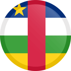 Flag of Central-African Republic, the - Button Round