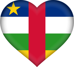 Flag of Central-African Republic, the - Heart 3D