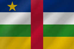Flag of Central-African Republic, the - Wave
