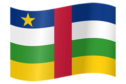 Flag of Central-African Republic, the - Waving