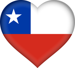 Chile flag vector - free download