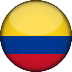 Flag of Colombia - 3D Round