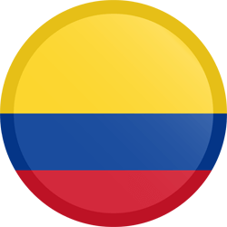 Flag of Colombia - Button Round
