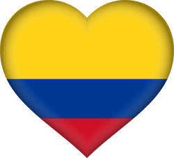 Flag of Colombia - Heart 3D