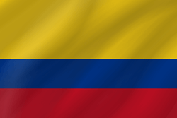 Drapeau de la Colombie - Vague