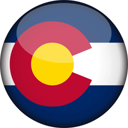 Flag of Colorado - 3D Round