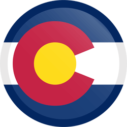Flag of Colorado - Button Round