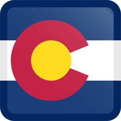 Flag of Colorado - Button Square