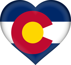 Flag of Colorado - Heart 3D