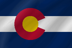 Flagge von Colorado - Welle