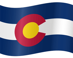 Flag of Colorado - Waving