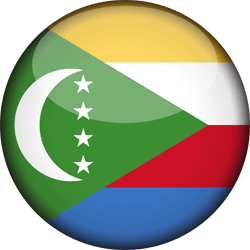 Flag of Comoros - 3D Round