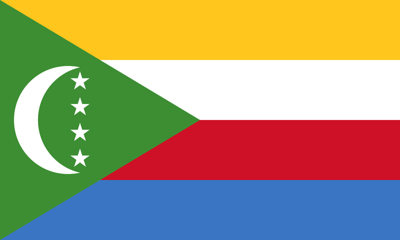 Comoros flag package