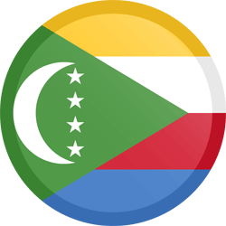 Flag of Comoros - Button Round