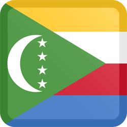 Flag of Comoros - Button Square
