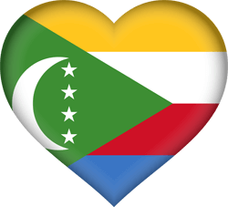 Flag of Comoros - Heart 3D