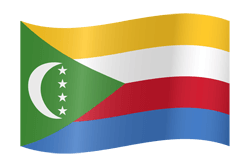 Flag of Comoros - Waving