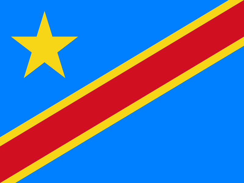 Flag of Congo-Kinshasa - Flag of Zaire - Flag of the Democratic Republic of the Congo