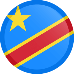 Democratische Republiek Congo vlag vector - gratis downloaden