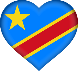 The Democratic Republic of the Congo flag clipart - free download