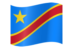 The Democratic Republic of the Congo flag icon - free download
