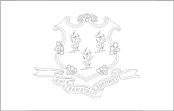 Connecticut flag coloring page - free download