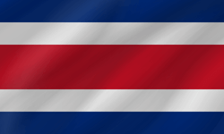 Drapeau du Costa Rica - Vague