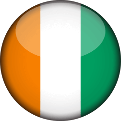 Flag of Ivory Coast - Flag of Côte d'Ivoire - 3D Round